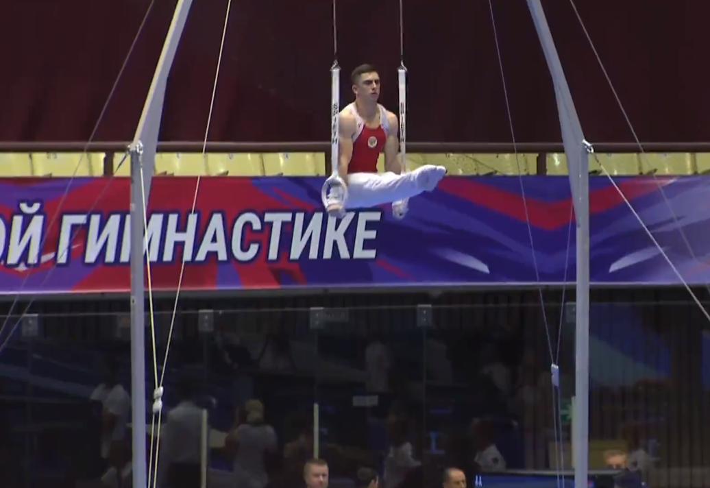 Виктор Британ завоевал бронзовую медаль в опорном прыжке