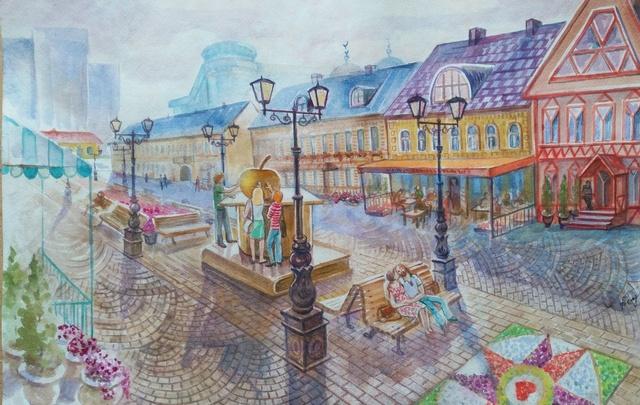 Город-мечта в рисунках уфимской художницы