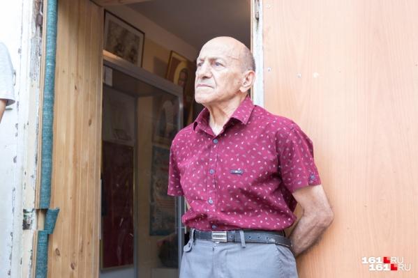 Основатель спортивного клуба «Антей» Рафаэль Акопян на собрании 7 июня