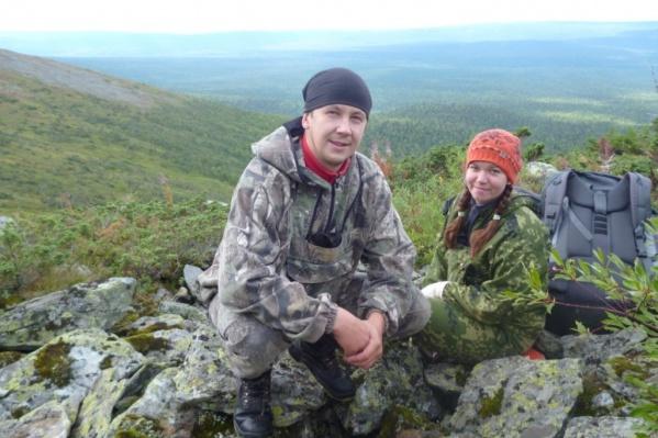 Евгения и Антон в Вишерском заповеднике в 2013 году