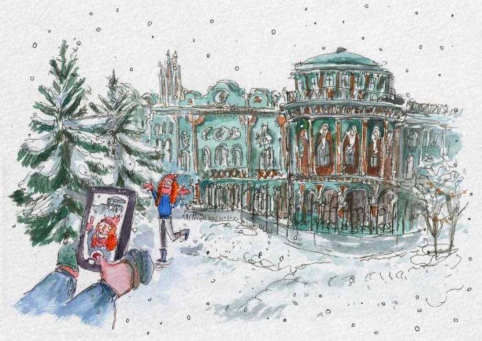Екатеринбурженка Алёна под ником nota_le рисует быстрые городские пейзажи