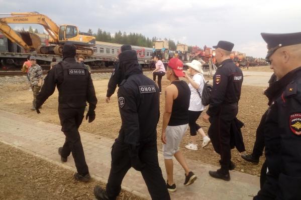 Активистку Оксану Грузд задержали на Шиесе накануне днем