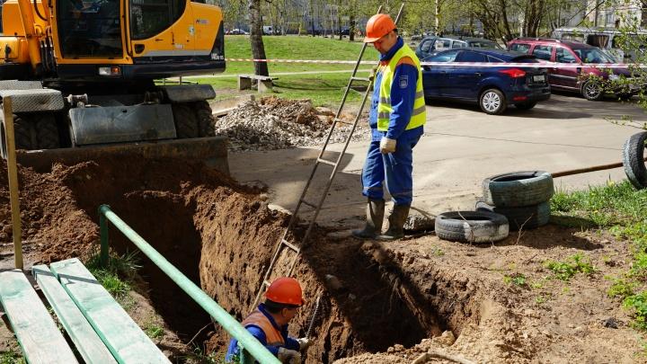 Ярославльводоканал меняет сети во дворах города