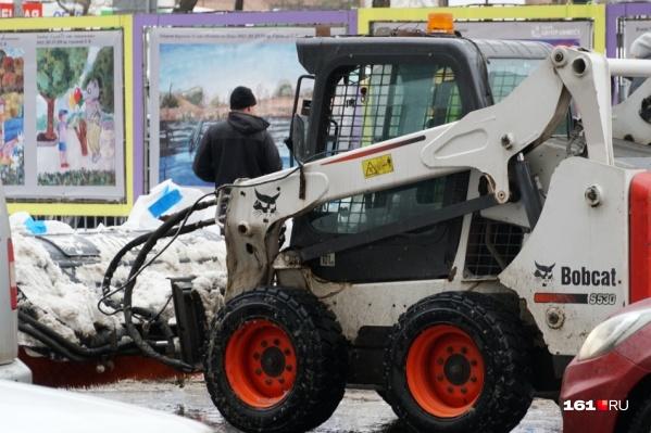 Основные магистрали убирали сразу после первого снегопада