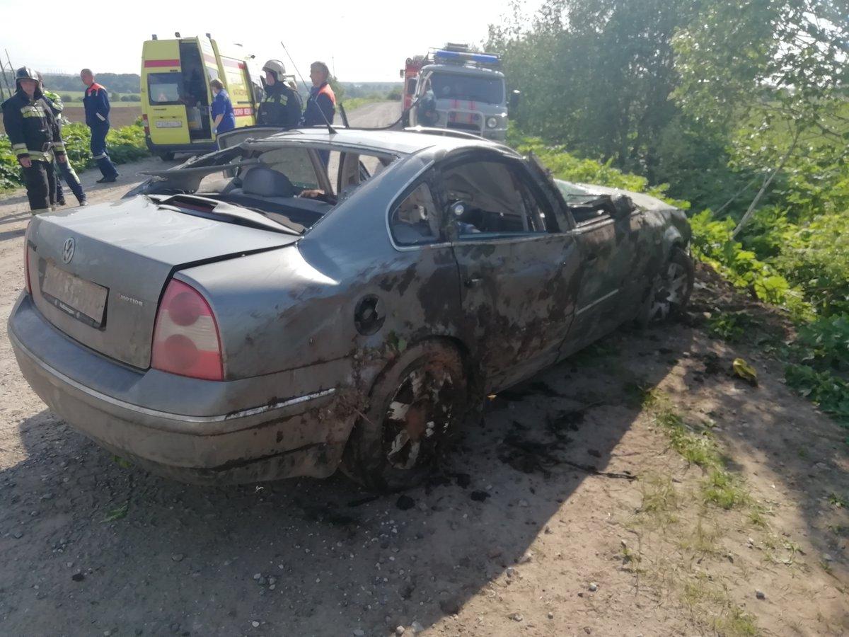 В ликвидации последствий аварии от МЧС приняли участие девятьчеловек