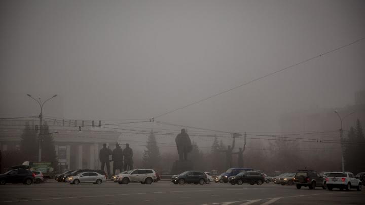 Ёжики в тумане: Новосибирск затянуло серой пеленой