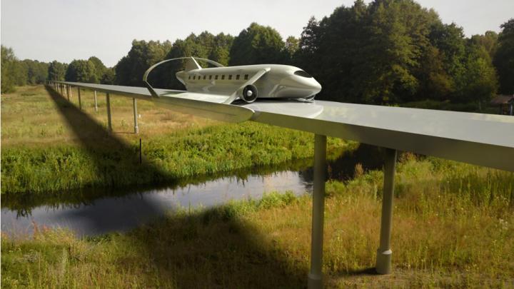 Поезд с крыльями: новосибирцы придумали транспорт будущего