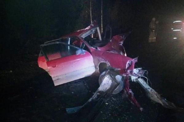 В полиции предполагают, что водитель Audi не вовремя выехал на встречную полосу