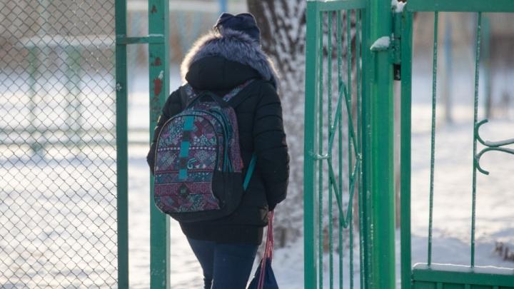 Каникулы продолжаются: в четверг из-за морозов в школах Челябинска отменили уроки