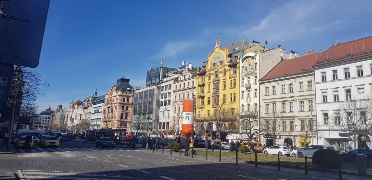 Вацлавская площадь в центре Праги, где находится ресторан, совладельцем которого является Мартин Калиш