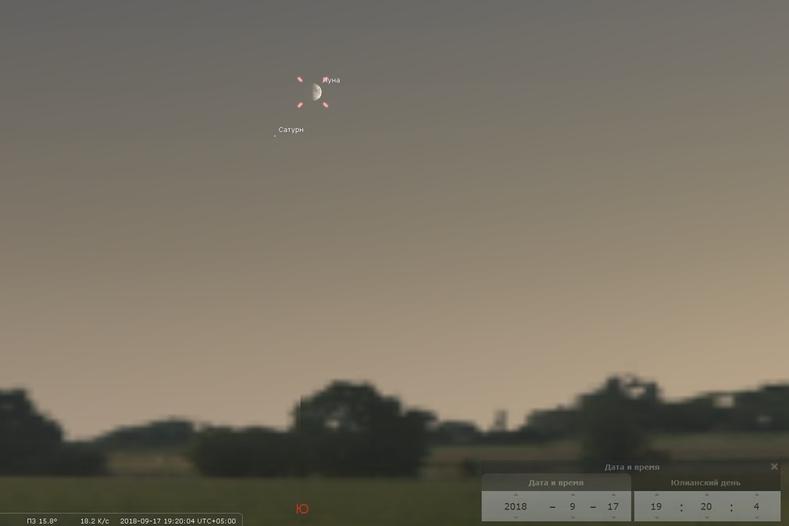 Наблюдать за Луной и Сатурном можно будет с Плотинки