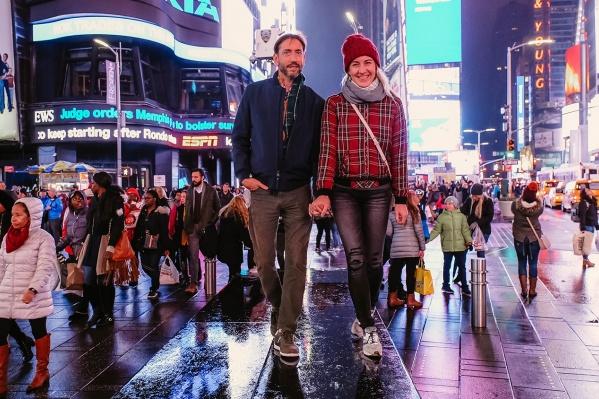Светлана Дмитриева с мужем Дэйвом, к которому она переехала в Америку