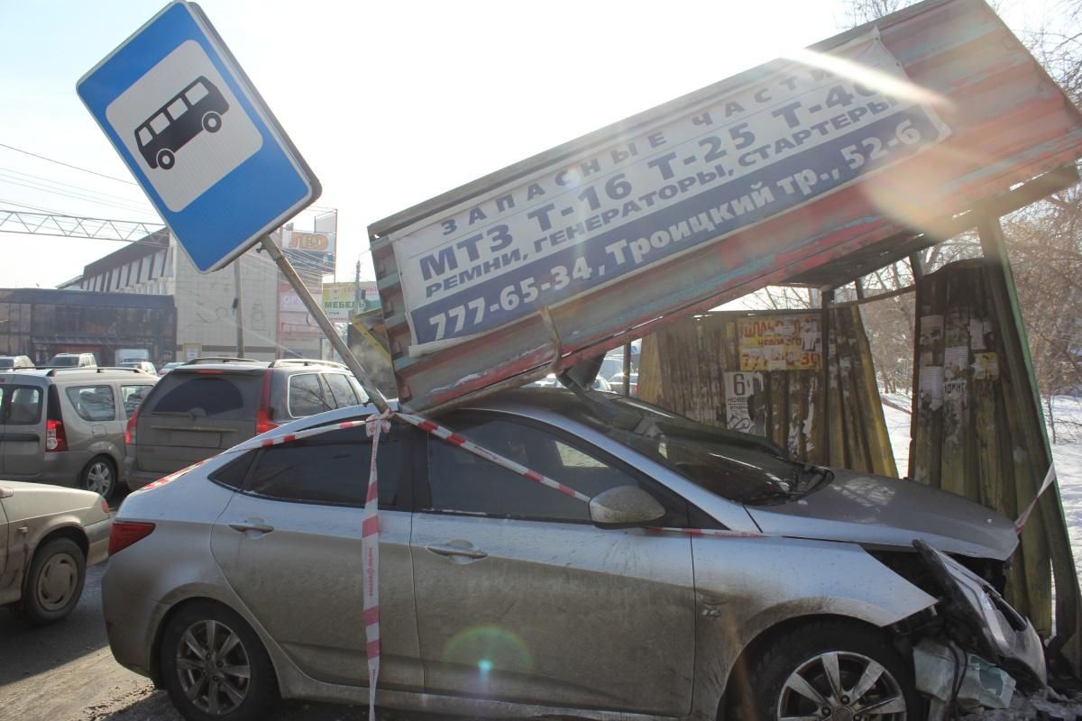 Авария произошла на улице Дарвина