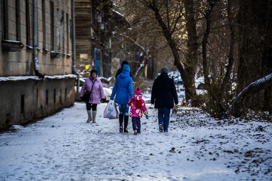1-ый снег выпал сегодня ночью вНовосибирске