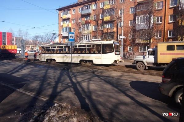 ДТП произошло на улице Чкалова в районе пересечения с улицей Чехова