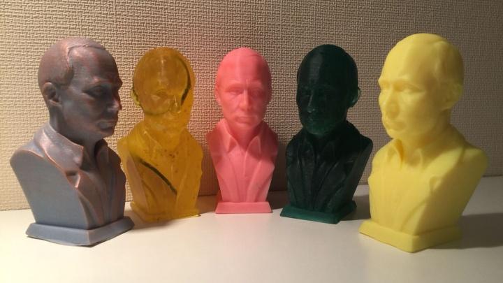 Фото: сибирячка выпустила коллекцию мыла в форме бюстов Путина