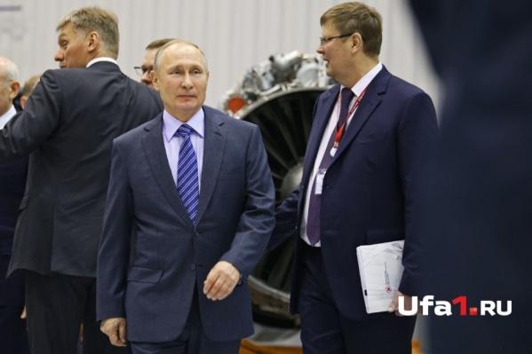 Владимир Путин на Уфимском моторостроительном производственном объединении
