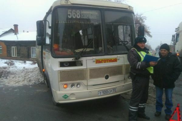 В ходе аварии пострадало семь пассажиров автобуса