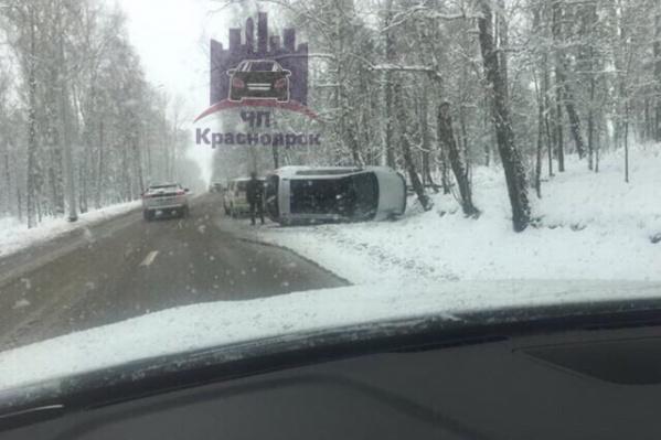 Водитель в аварии не пострадал