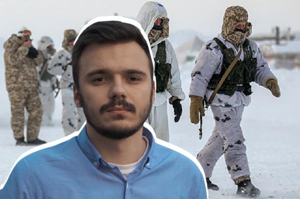 Руслан Шаведдинов позвонил Навальному и рассказал, что в казарме в военной части на Новой Земле его не держат взаперти, но к нему приставлен человек, который постоянно с ним находится и наблюдает
