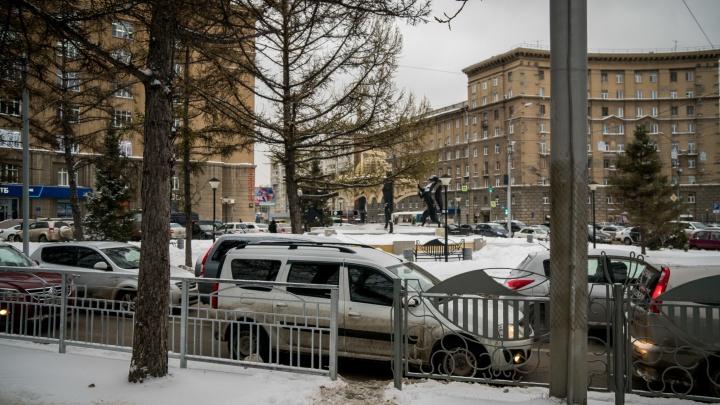 Теперь не подойти: в центре Новосибирска убрали переход к скульптуре с соболями