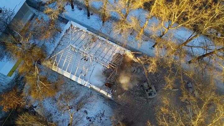 На проспекте Кирова снесли двухэтажный дом для строительства магистрали «Центральной»