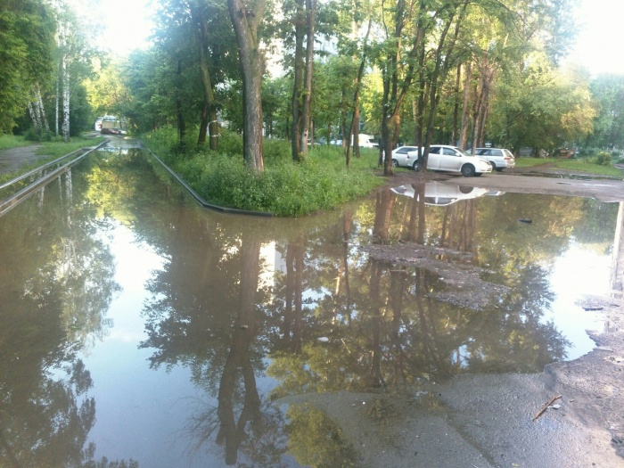 Дорога около домов № 267 и 269 по ул. Зорге