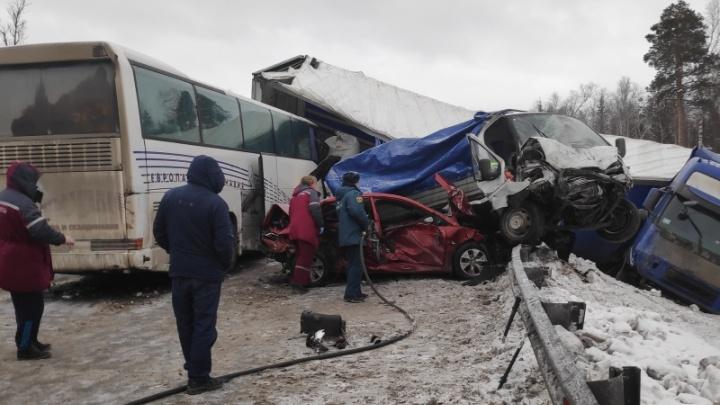Полиция возбудила уголовное дело после массового ДТП на трассе под Краснокамском