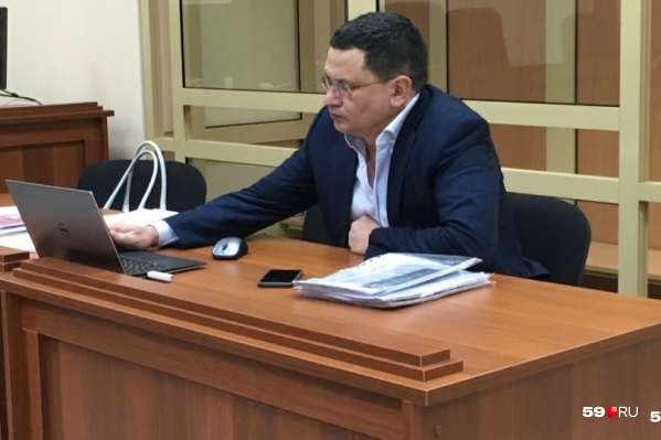 Алмаз Закиев на заседании суда в декабре
