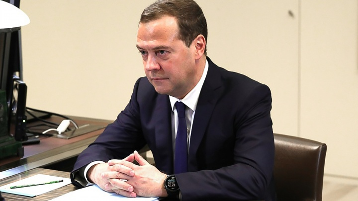 Премьер-министр Дмитрий Медведев летит в Ростов-на-Дону