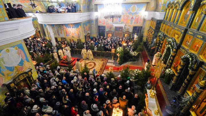 Главная литургия, посвященная Рождеству, пройдет вСвято-Троицком кафедральном соборе Екатеринбурга