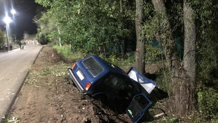 В Ярославском районе водитель без прав на «Ниве» вылетел в кювет