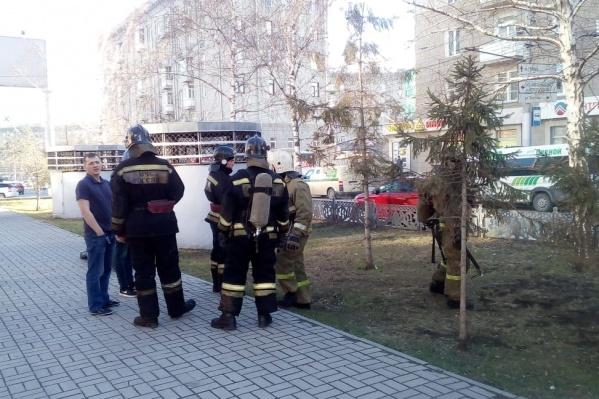 На месте работали две бригады пожарных
