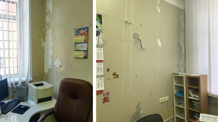 «Как в фильмах ужасов»: стены поликлиники в Советском районе облезли и испугали пациентов