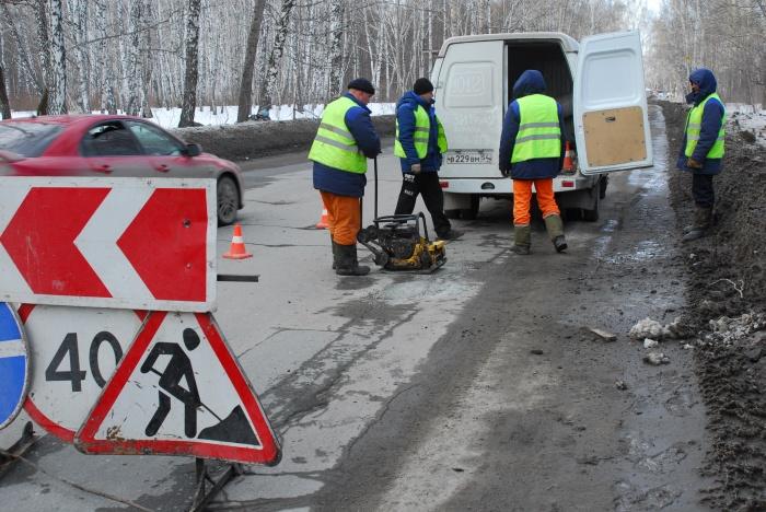 Краснояровское шоссе на выезде из города должны привести в порядок к концу июля