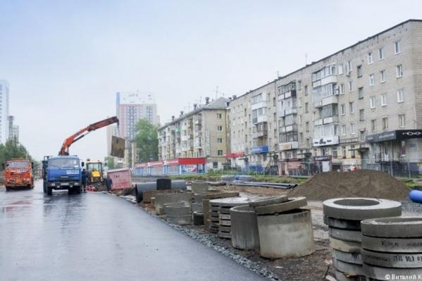 Так сейчас выглядит участок улицы Революции около стадиона «Юность»