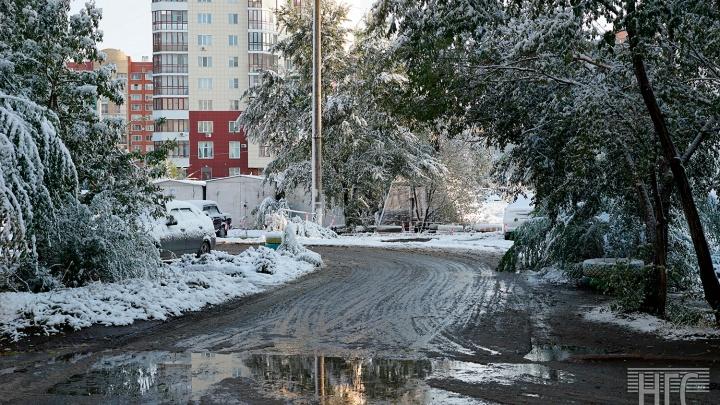 В Омской области спрогнозировали ледяной дождь и снежные заносы