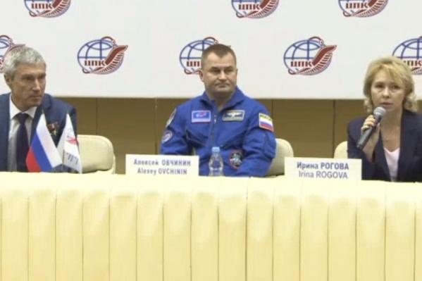 Пресс-конференция в Роскосмосе