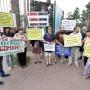 «Мы — бомжи!»: обманутые дольщики компании «Серебряный ключ» вышли на пикет