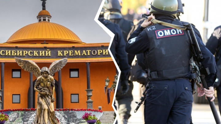 Обыски в крематории. Cиловики пытались вскрыть пожарную дверь в бухгалтерии ломом и болгаркой