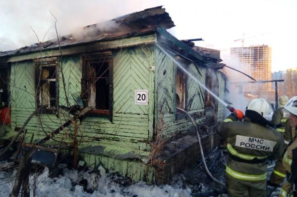 Дом почти весь выгорел