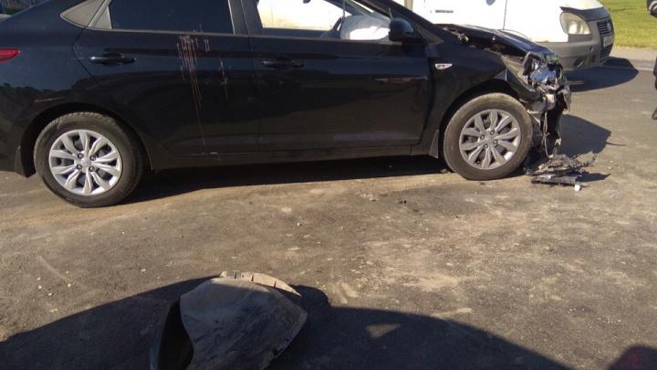 В Центральном районе водитель выехал на встречку и устроил ДТП (видео)