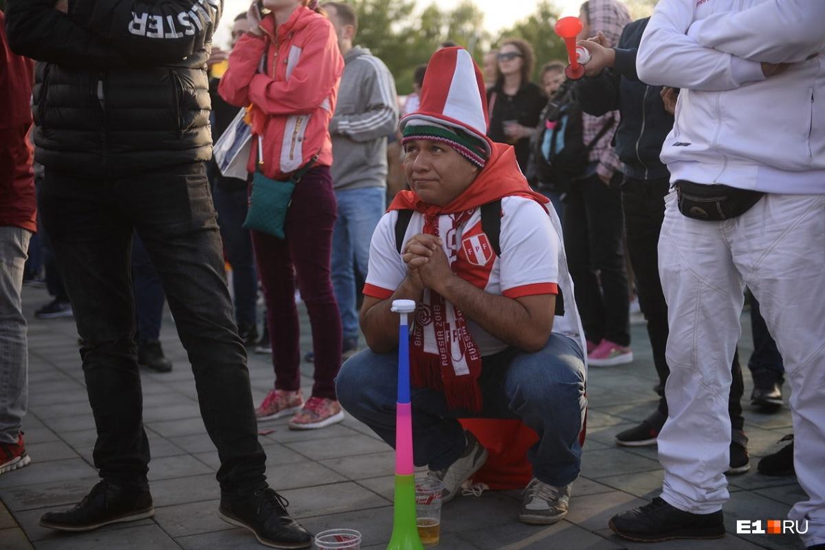 После первого гола перуанцы загрустили