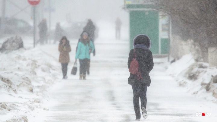 В Самару придет сильный ветер с мокрым снегом