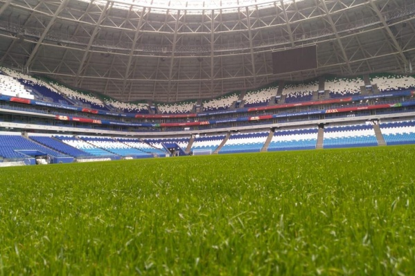Газон на стадионе начали обновлять<br>