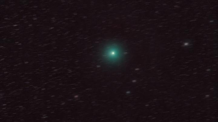 «Такое бывает раз в три года»: фотограф снял необыкновенно яркую комету в небе над Екатеринбургом
