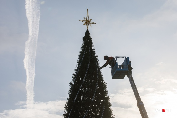 Разбирать елку начали с демонтажа украшений