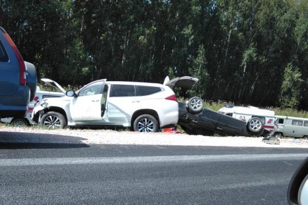 Авария случилась около Черепаново