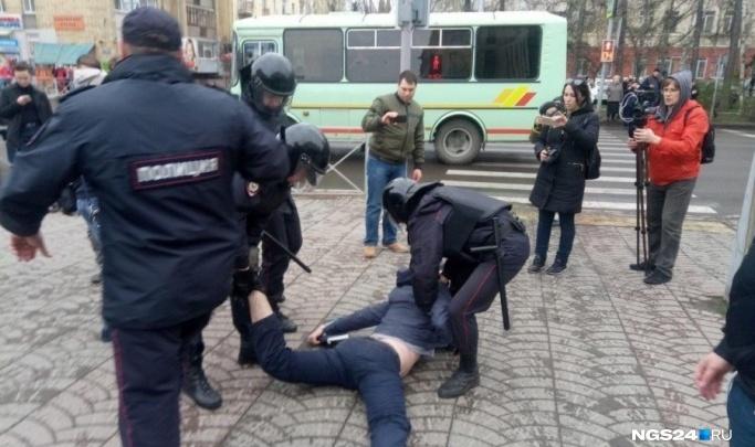 Жестоко задержанный на митинге «Он нам не царь» красноярец пожаловался в ЕСПЧ