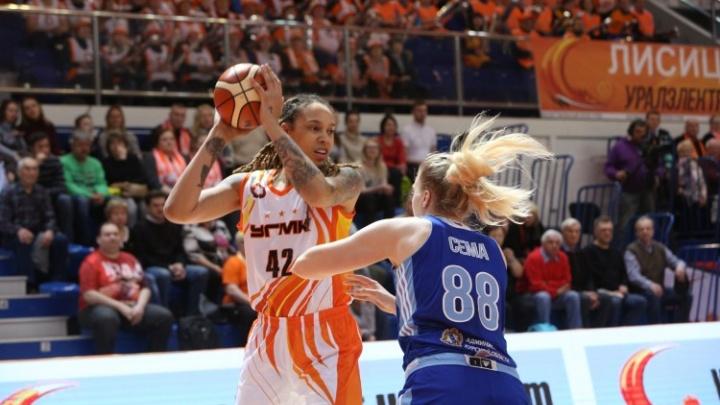 Баскетболистки УГМК победили команду из Курска и вышли в полуфинал чемпионата России
